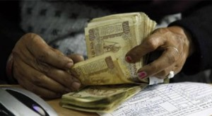 Sensex down 157 points, rupee at record low of 55.45 vs dollar
