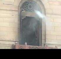 Fire at North Block in New Delhi