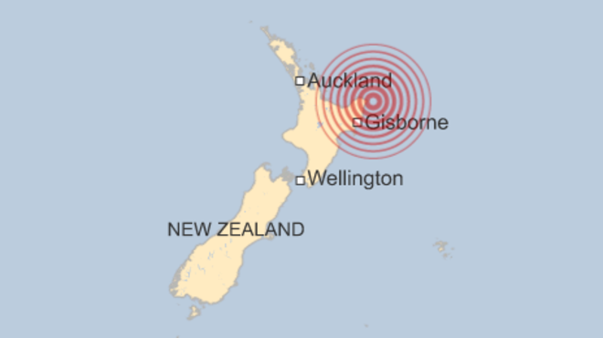 Powerful Earthquake at North East New Zealand