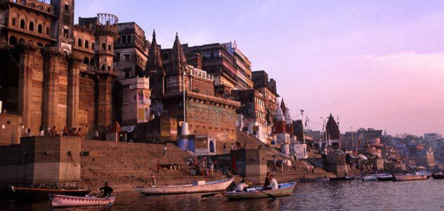 Mythological Towns Near The Ganges in India